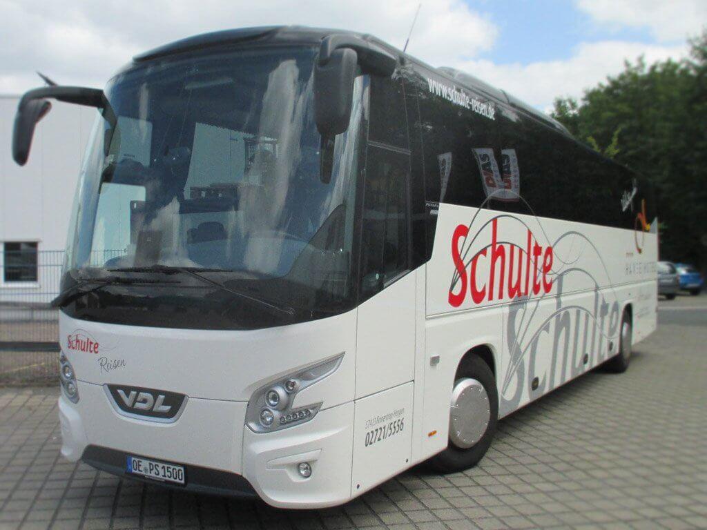 Schulte Reisen - Flottenbeschriftung mit uns an Ihrer Seite