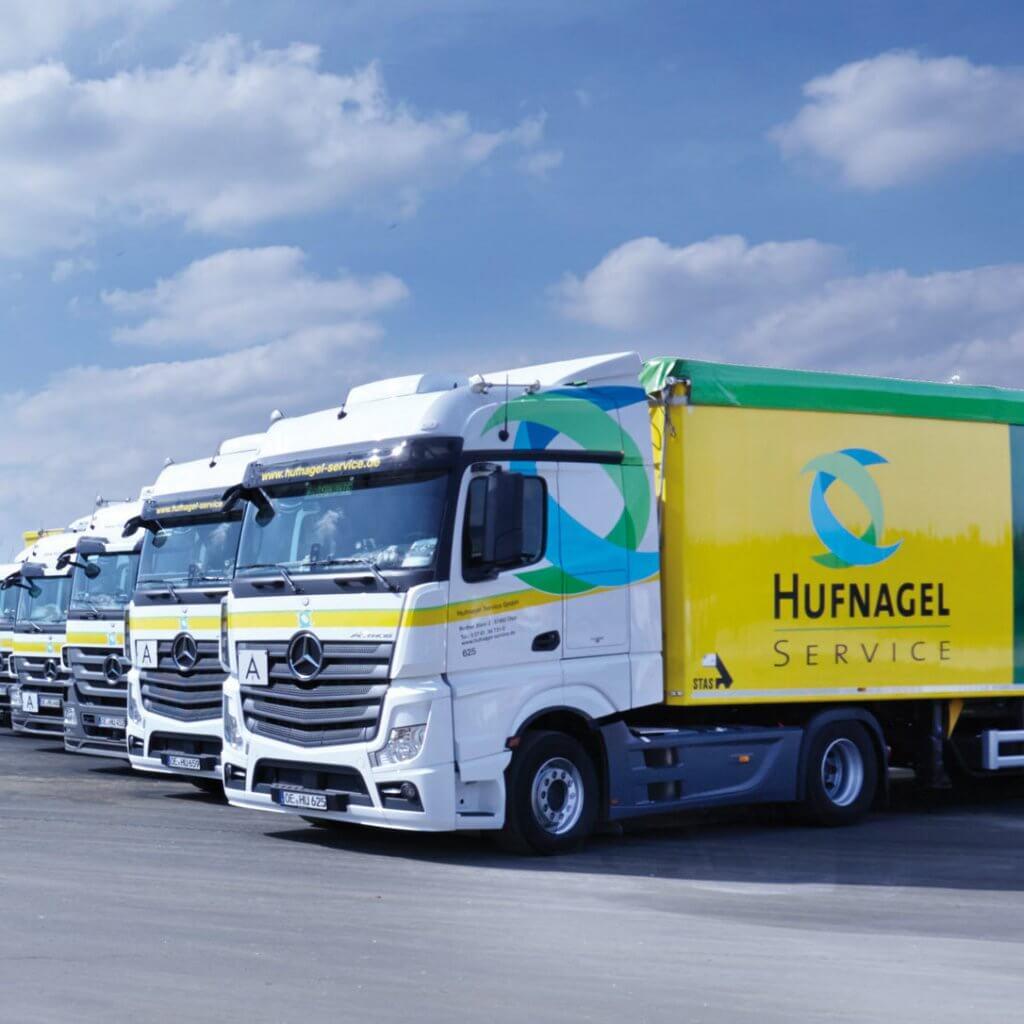 Optisch auffallendes Branding bei der Hufnagel Service GmbH
